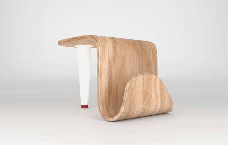 Unique Tongue Side Table by Sergio Seabra