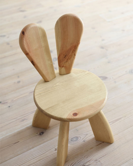 Easter Furniture Bunny Chair By Hiromatsu Sohomod Blog - Ecological-furniture-for-kids-bedroom-by-hiromatsu