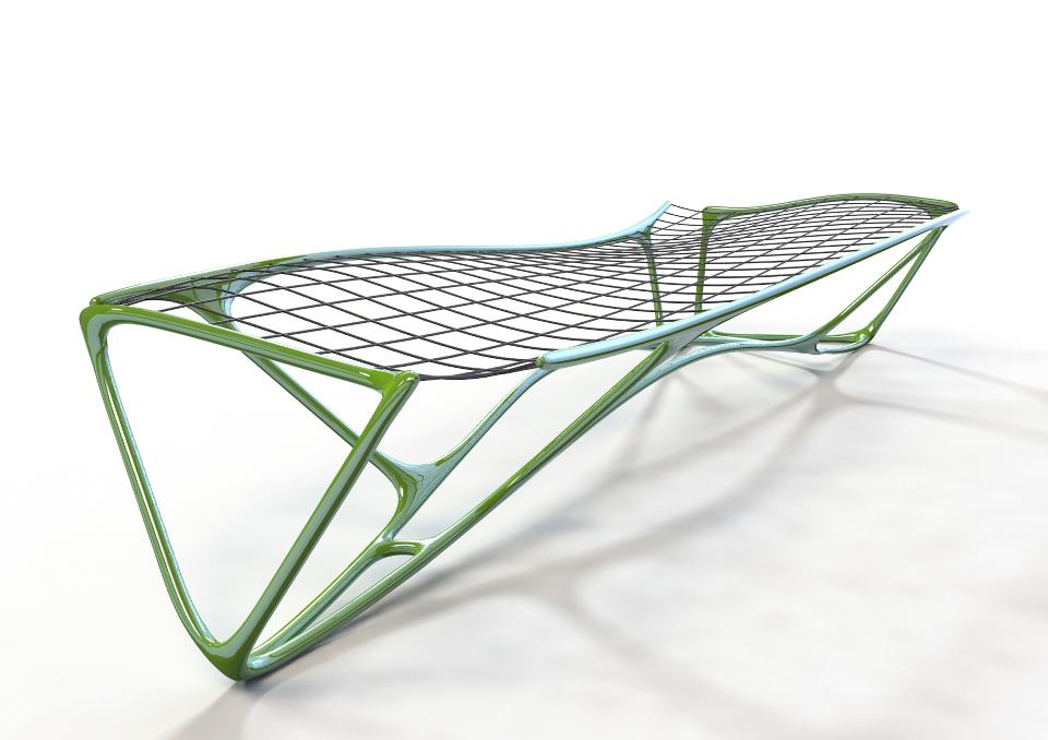 The Weave Bench by Peter Donders