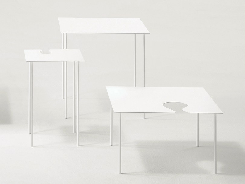 Softer Than Steel Coffee Tables by Nendo for Desalto
