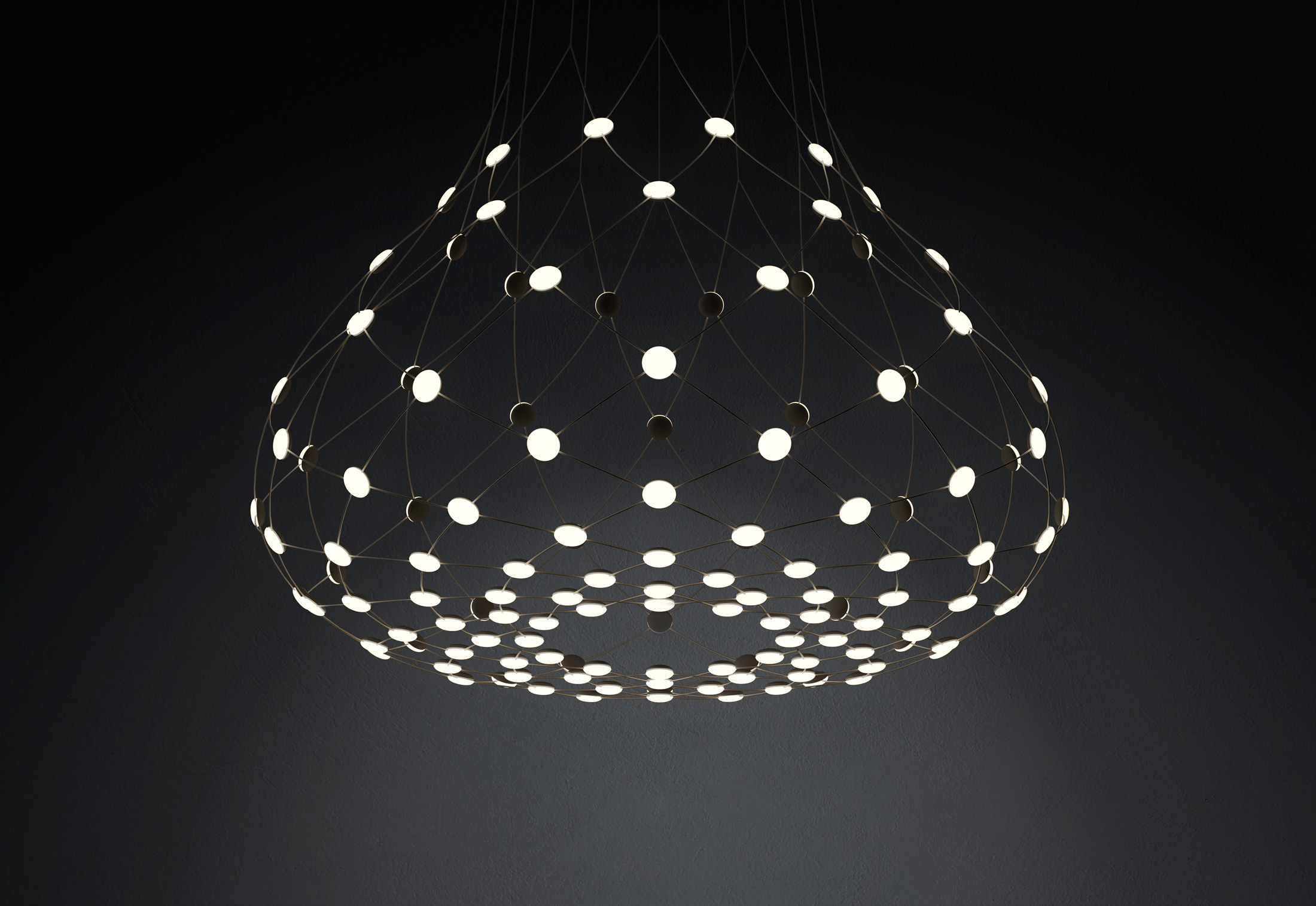 Mesh Suspension Lamp By Francisco Gomez Paz For Luceplan
