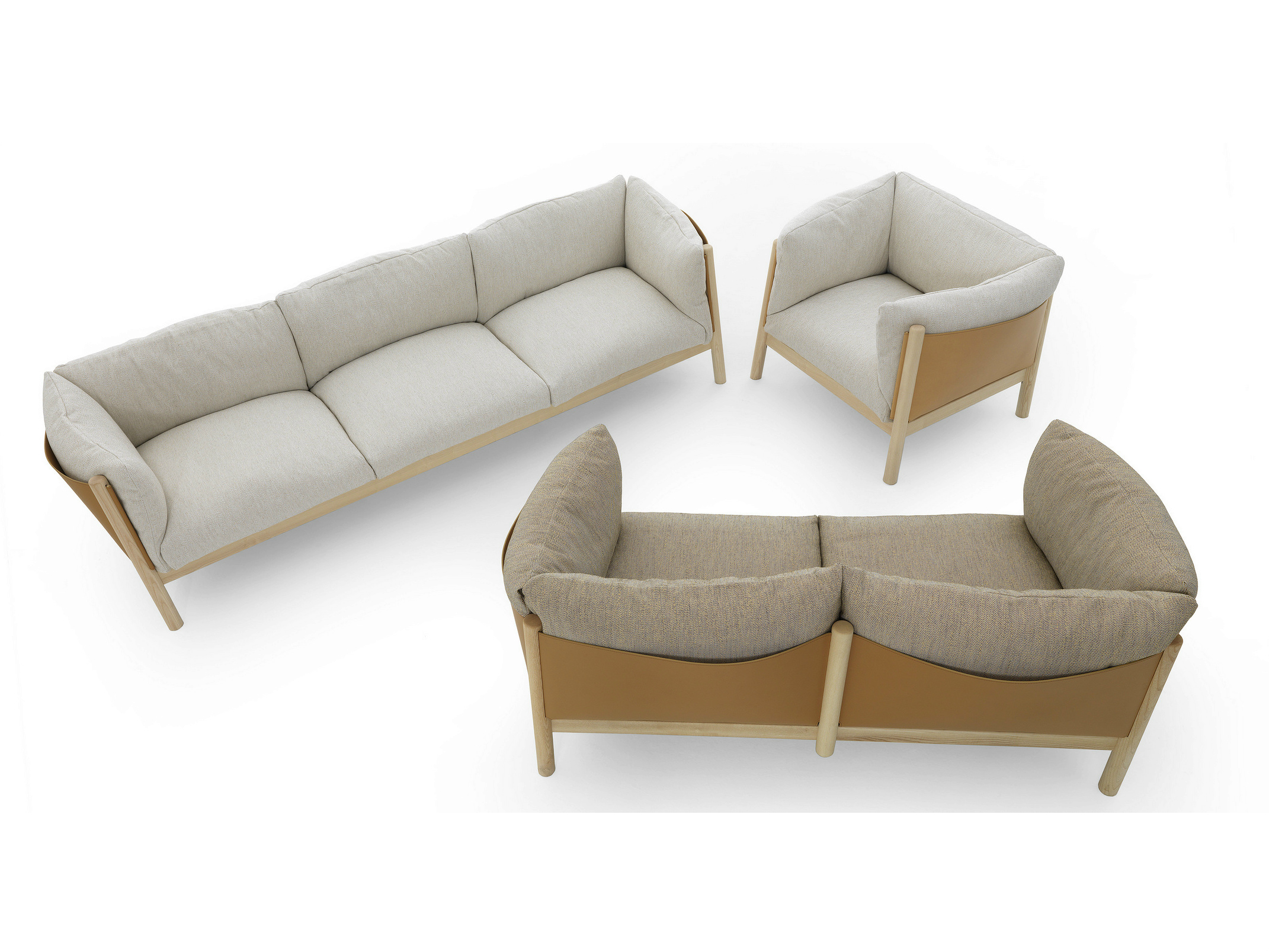Yak sofa chair collection by lucidipevere for de padova