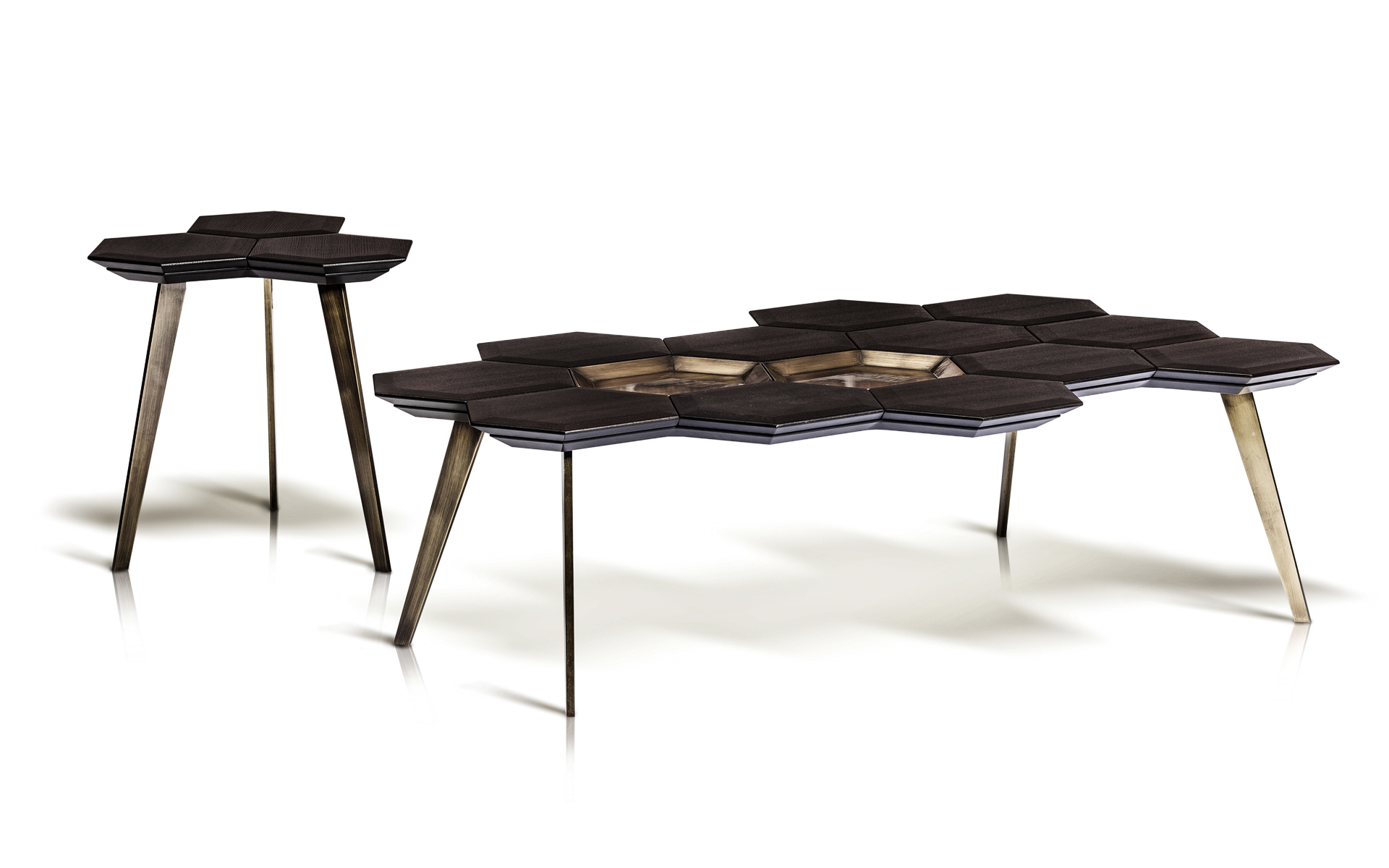 Icy-A Coffee Table & Side Table by Marconato Maurizio & Terry Zappa for ENNE