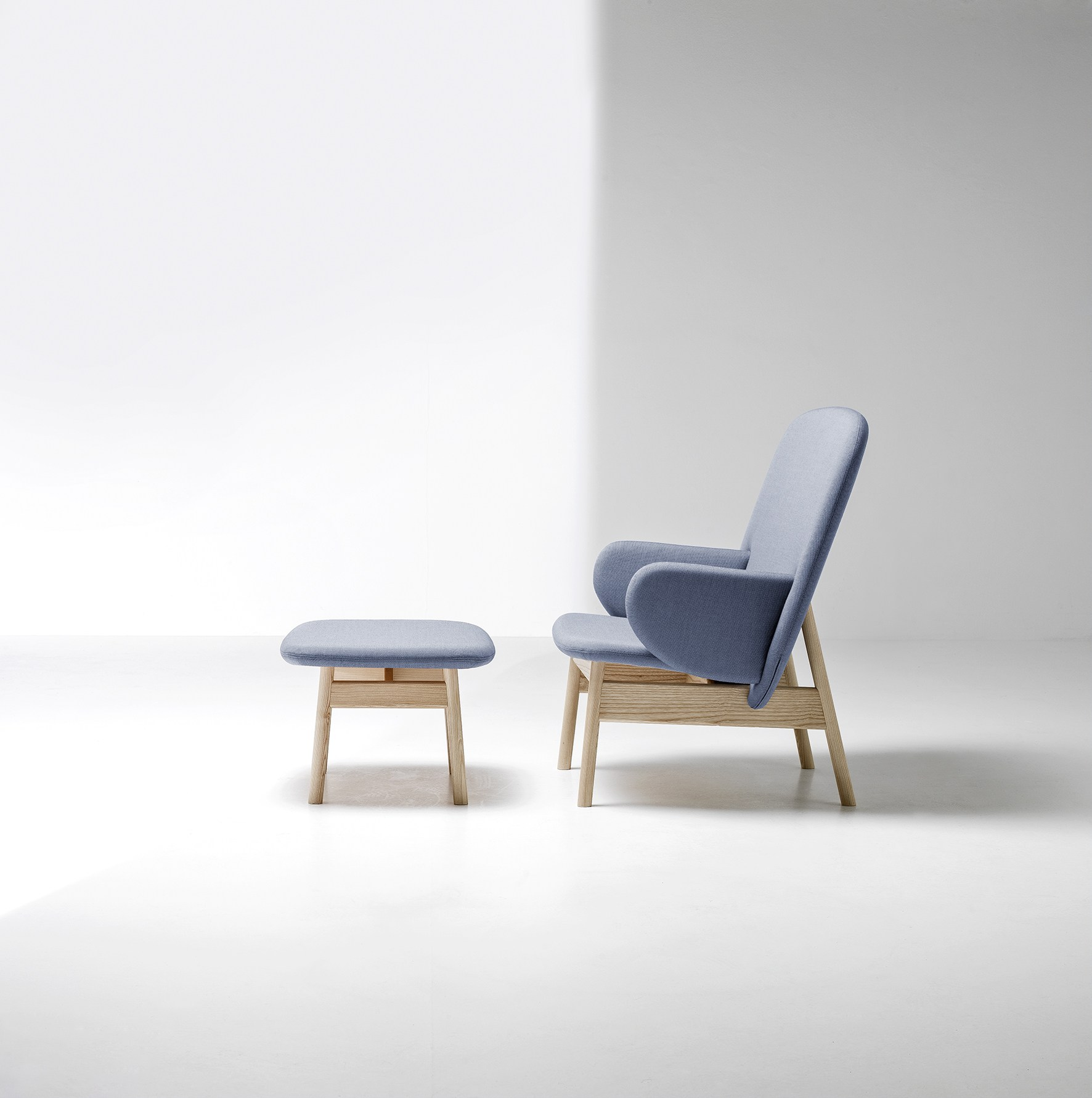 Ala Armchair & Footstool by Sebastian Herkner for La Cividina