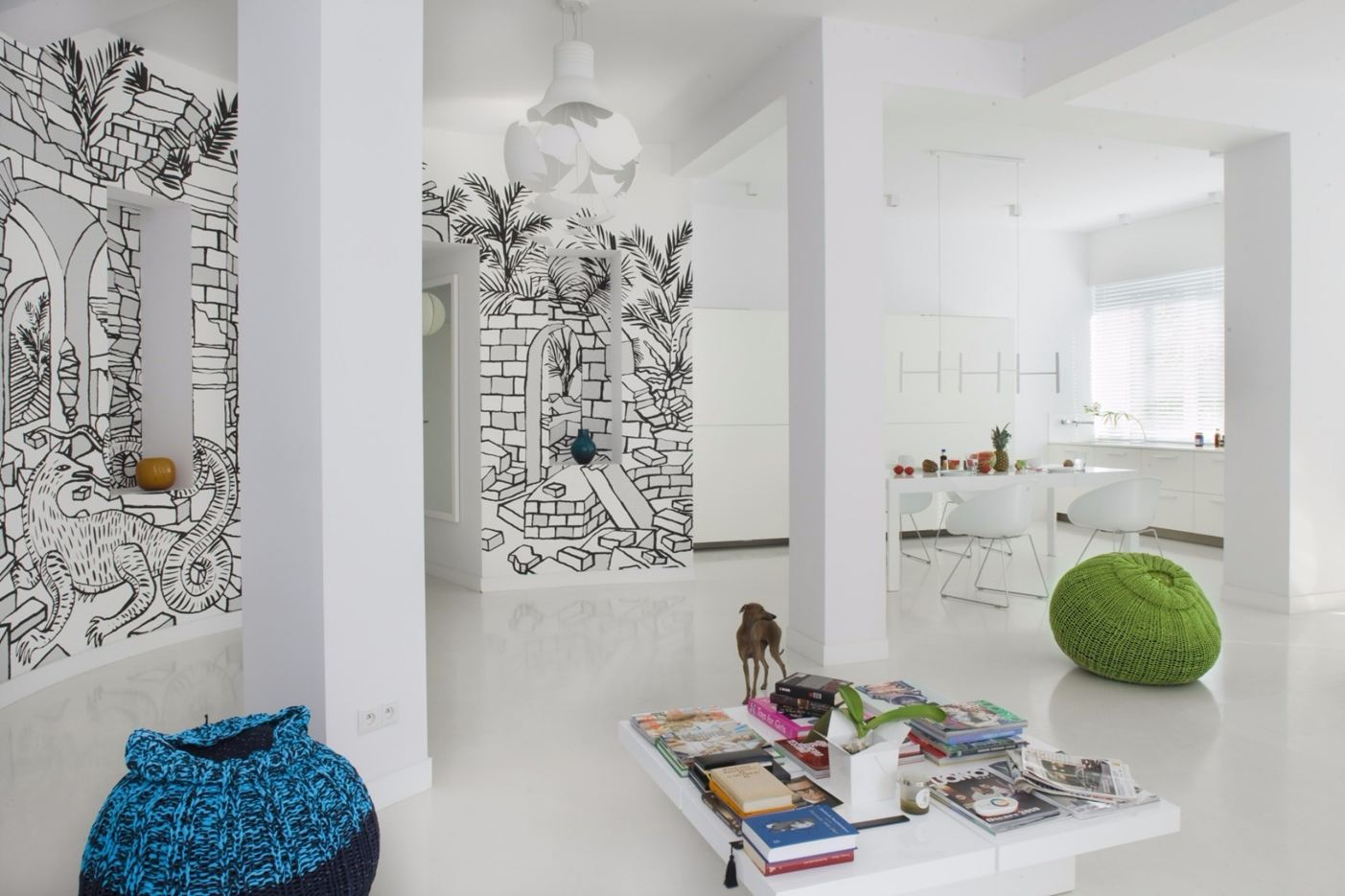 Shades of White Apartment in Warsaw, Poland by Mood Works