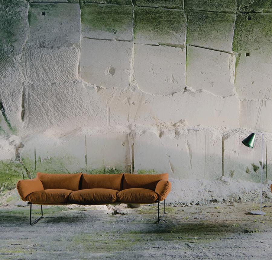 Elisa Sofa by Enzo Mari for Driade