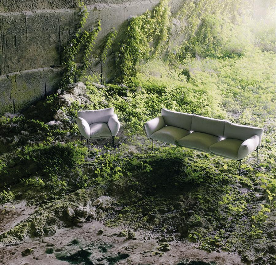 Elisa Sofa & Chair by Enzo Mari for Driade