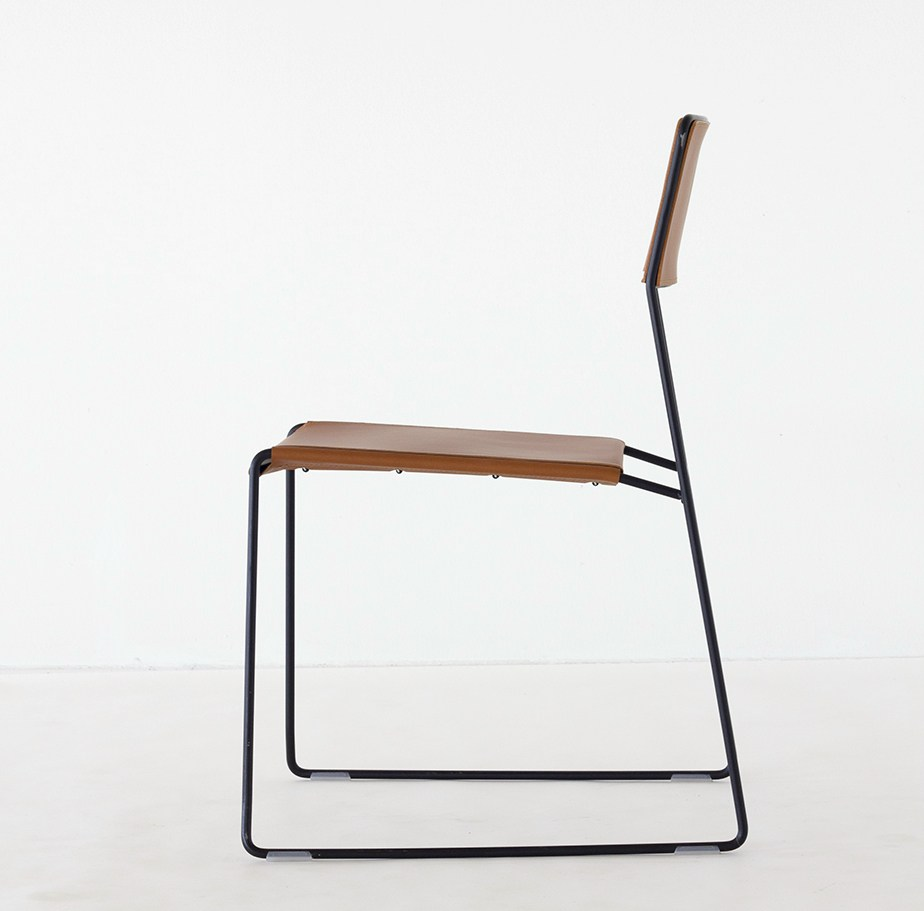LOG LEATHER Chair by Matteo Manenti & Simone Cannolicchio for Area Declic