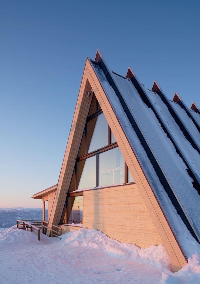 Björk Mountain Restaurant in Hemavan, Sweden by Murman Arkitekter