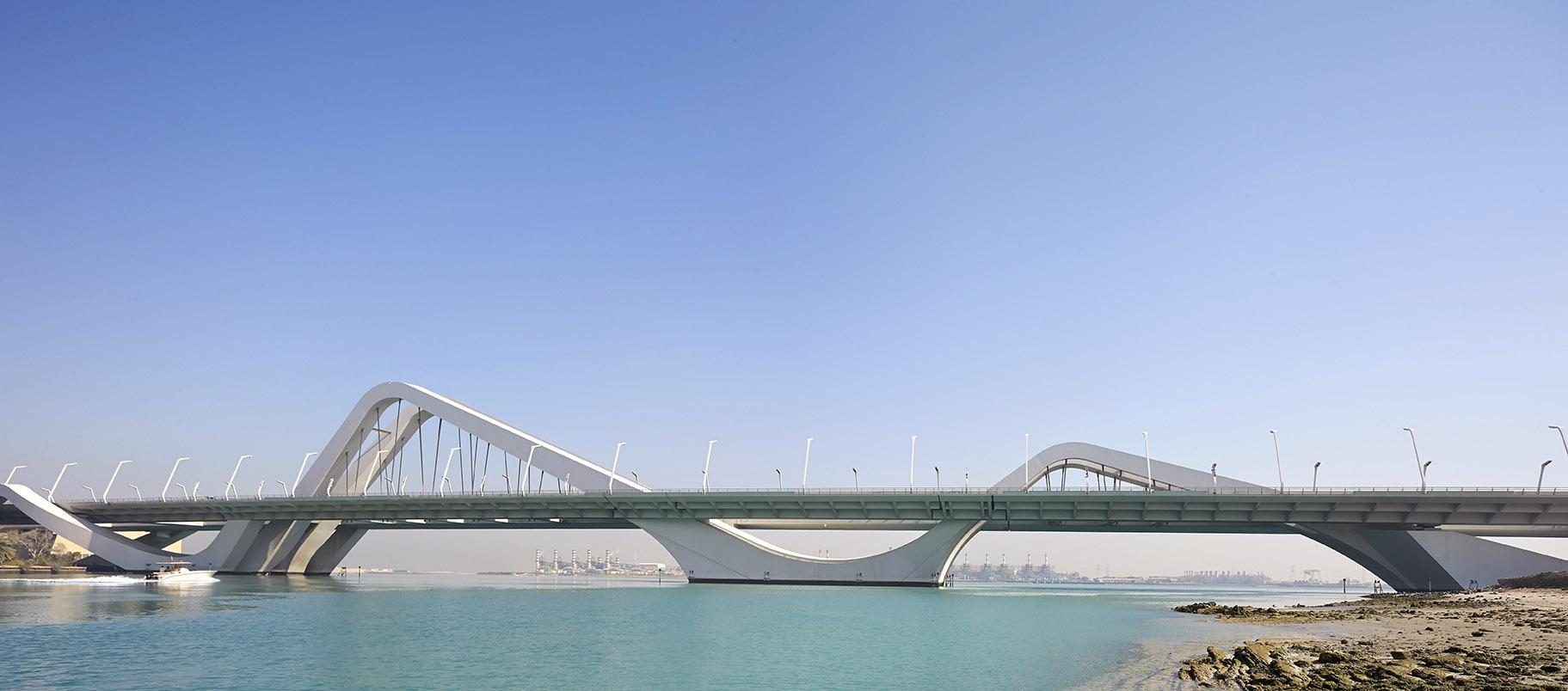 Sheikh Zayed Bridge in Abu Dhabi