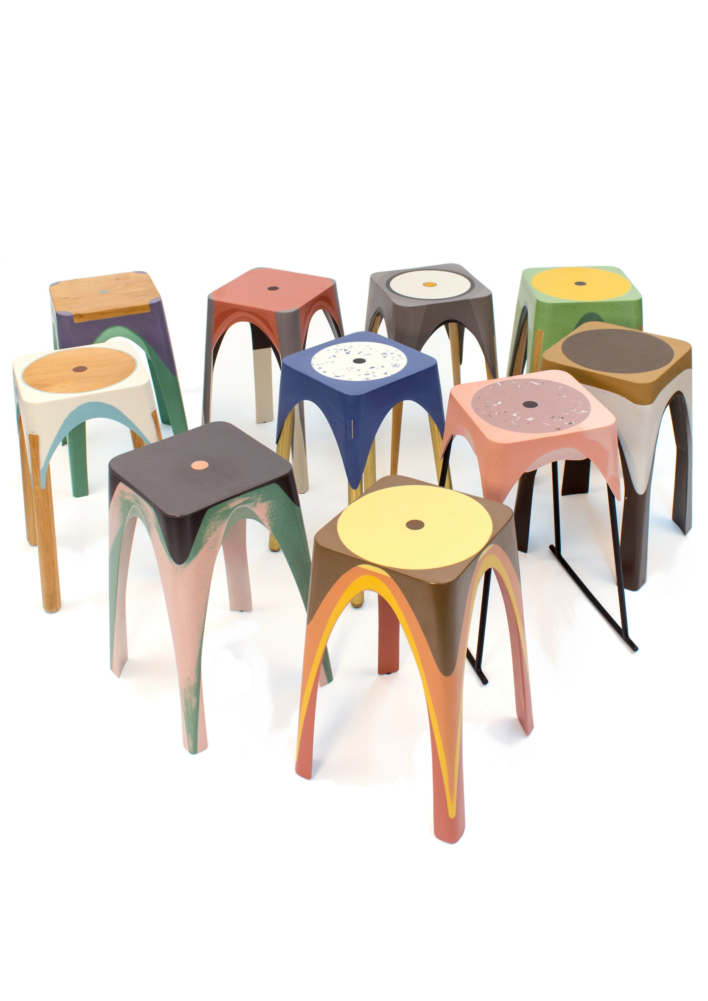 Matter of Motion Stools by Maor Aharon