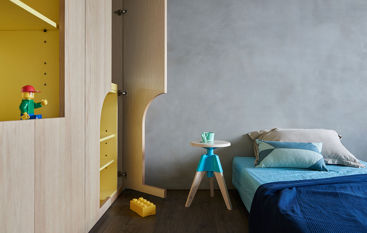 Blue And Glue Sky High Family Apartment In Taiwan By Hao