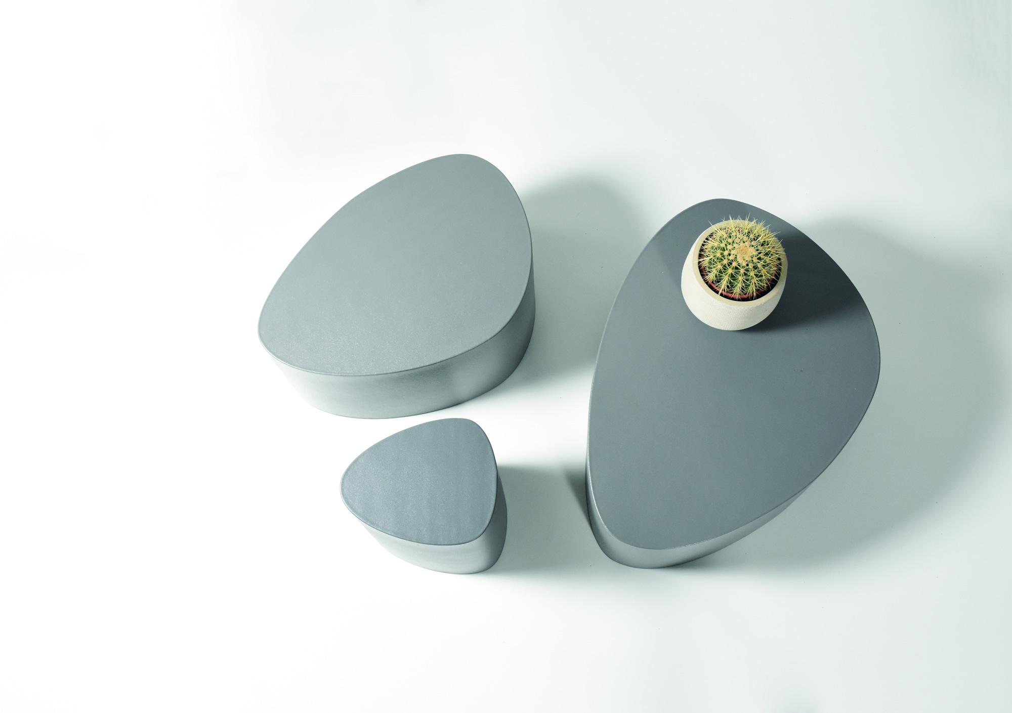 Stone Poufs by Stratta