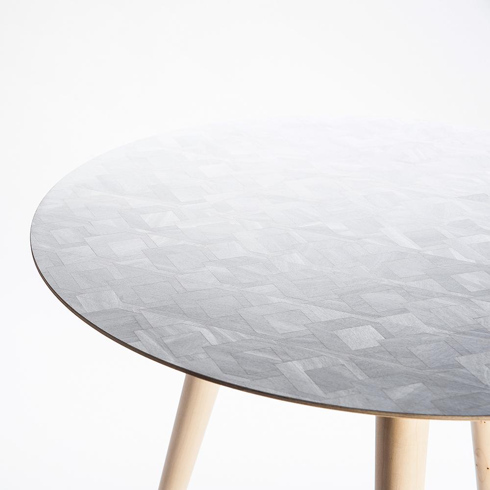 Marquetry Side Table by David Winter & Natasha Kurth