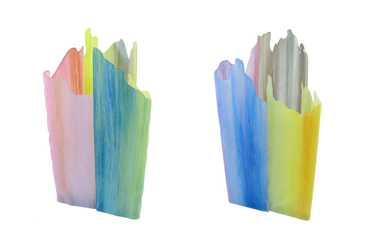 Painterly Spectrum Resin Table Lamps by Taeg Nishimoto