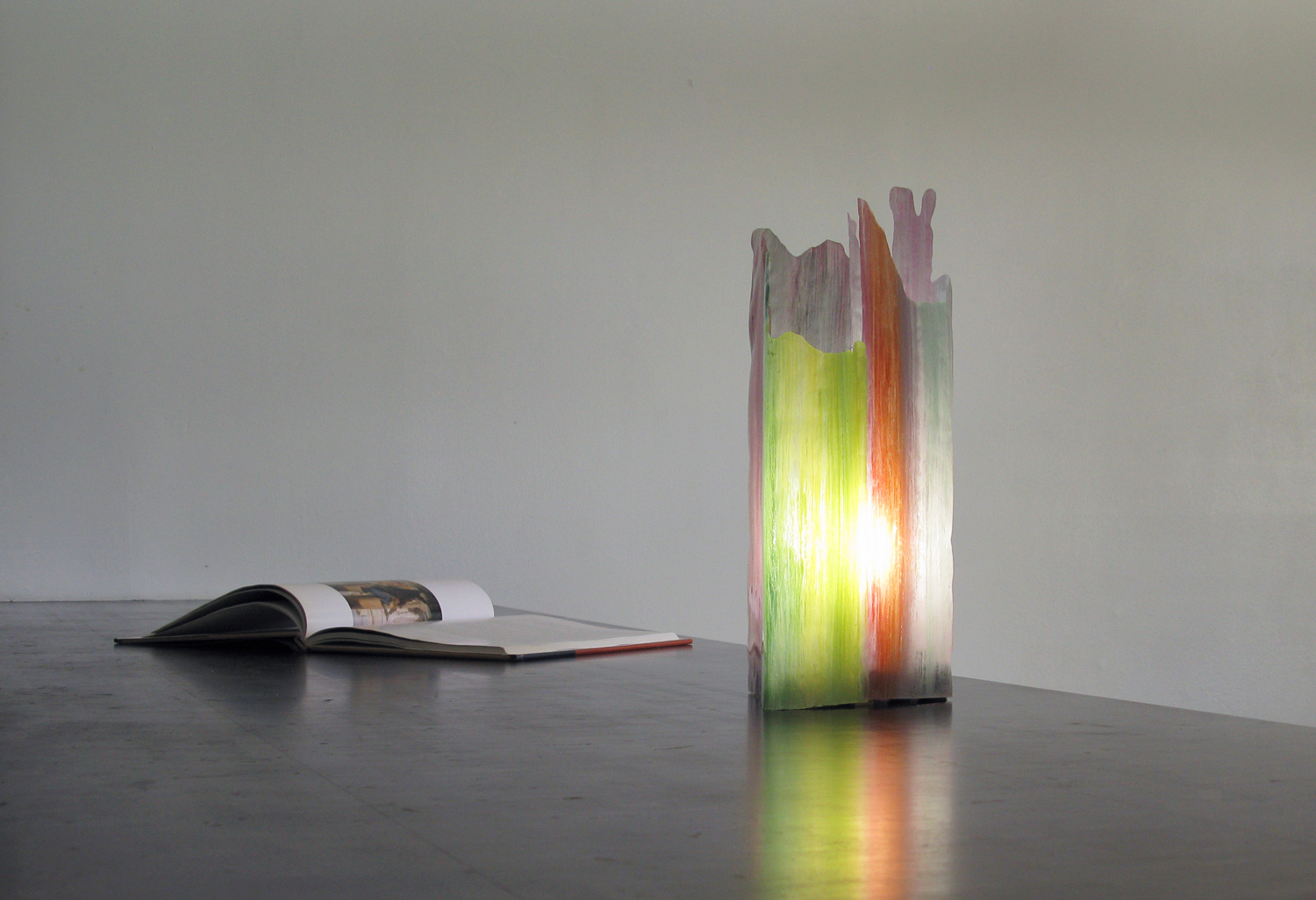 Painterly Spectrum Resin Table Lamp by Taeg Nishimoto