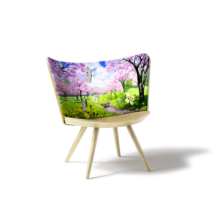 Embroidery Chair by Johan Lindstén for Cappellini