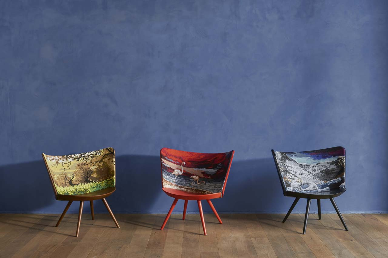 Embroidery Chairs by Johan Lindstén for Cappellini