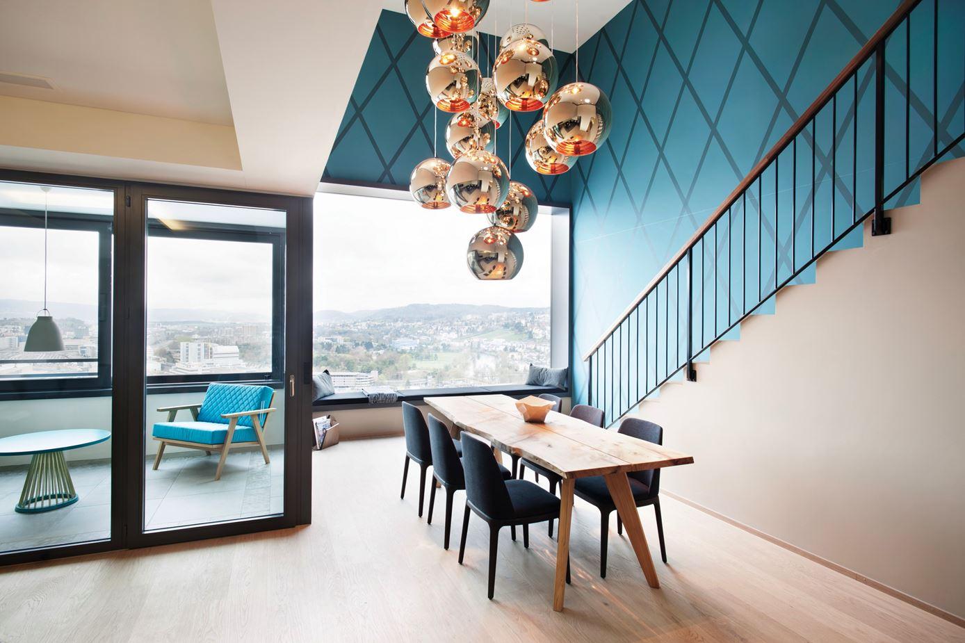 Penthouse Loft Hard Turm Park in Zurich, Switzerland by Dyer-Smith Frey
