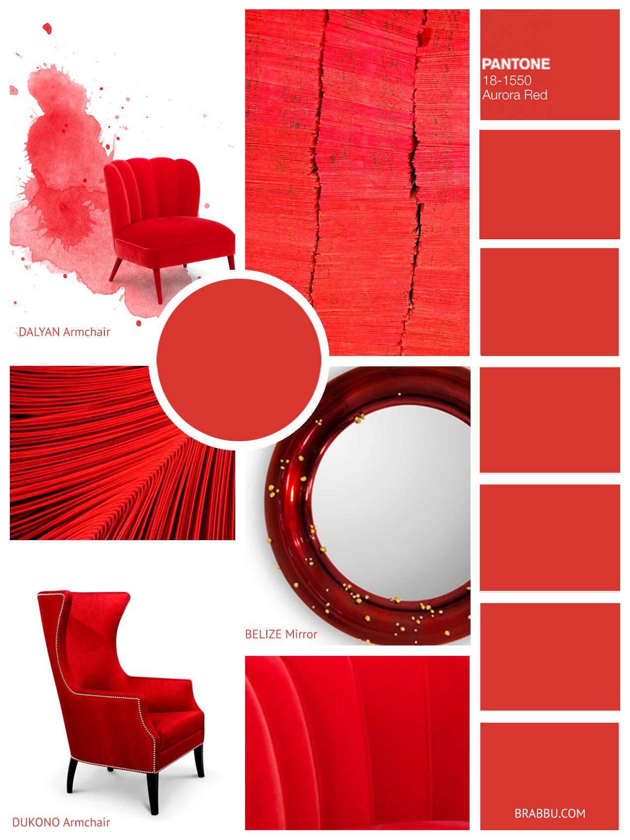 Pantone Aurora Red
