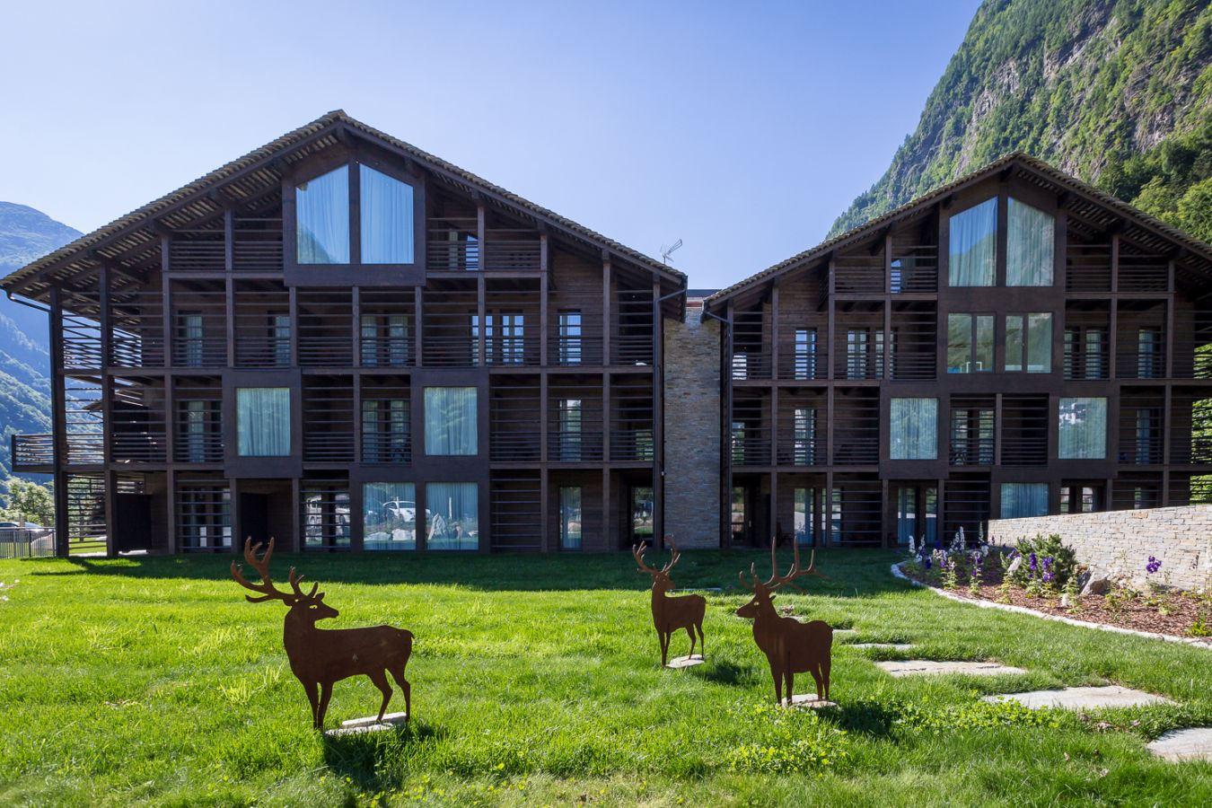 Mirtillo Rosso Family Hotel in Riva Valdobbia, Italy by Rita Cattaneo & Francesca Battisti