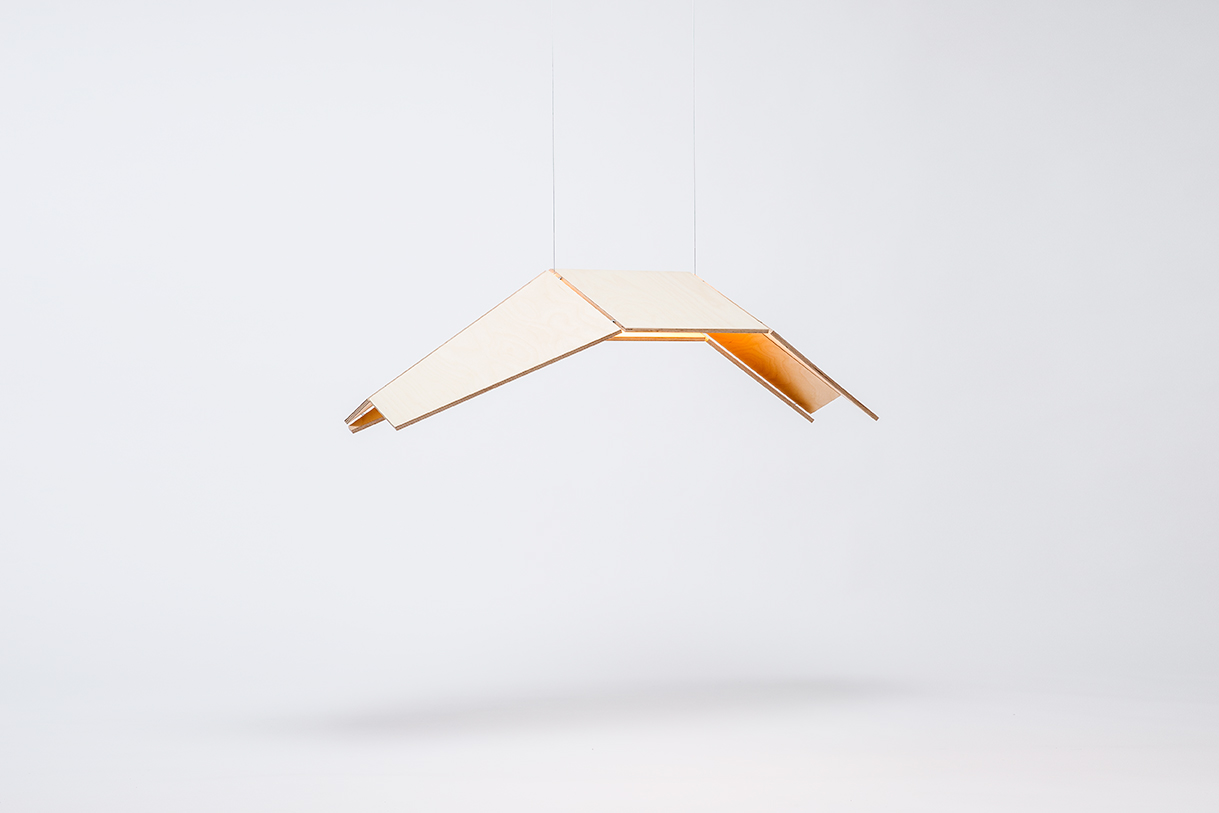 Eagle Pendant Lamp by Gaël Wuithier for Woodlabo