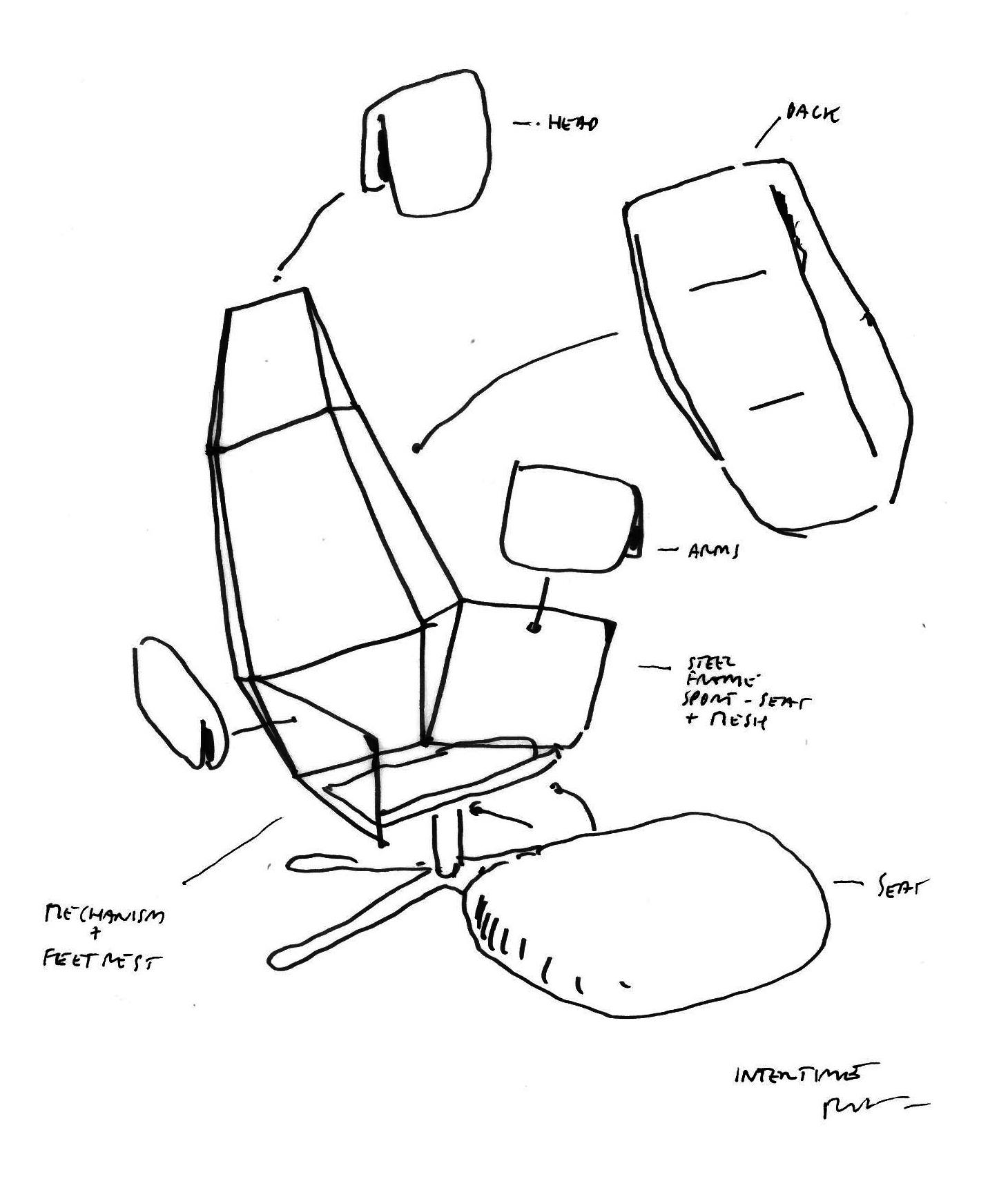 Illustration of Mesh Recliner by Intertime