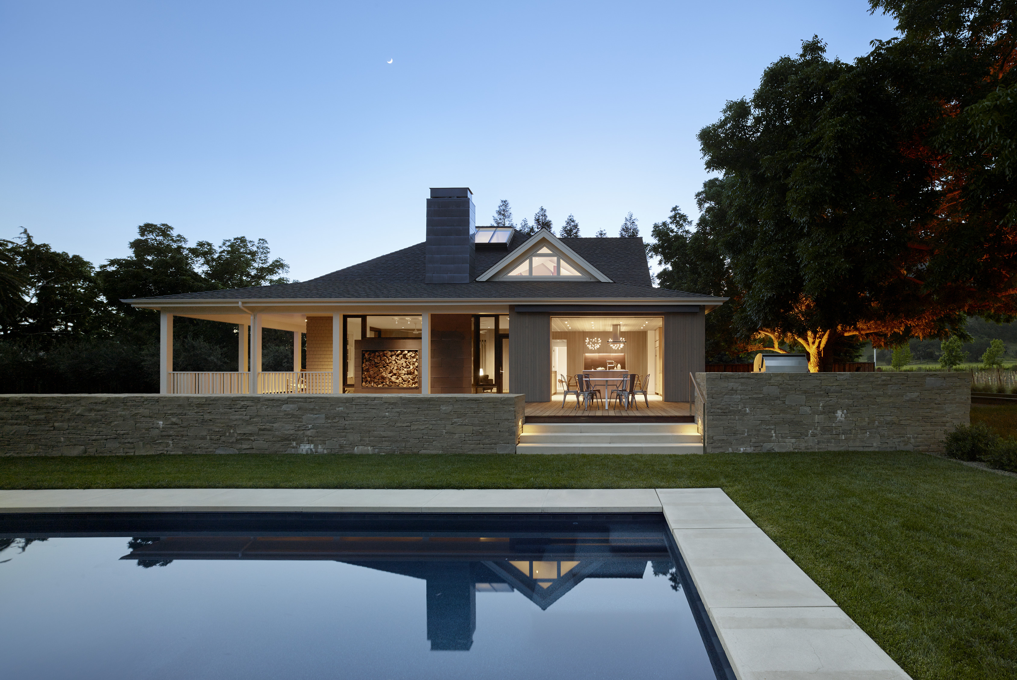 Wine Country Farmhouse in Calistoga, CA by Bohlin Cywinski Jackson