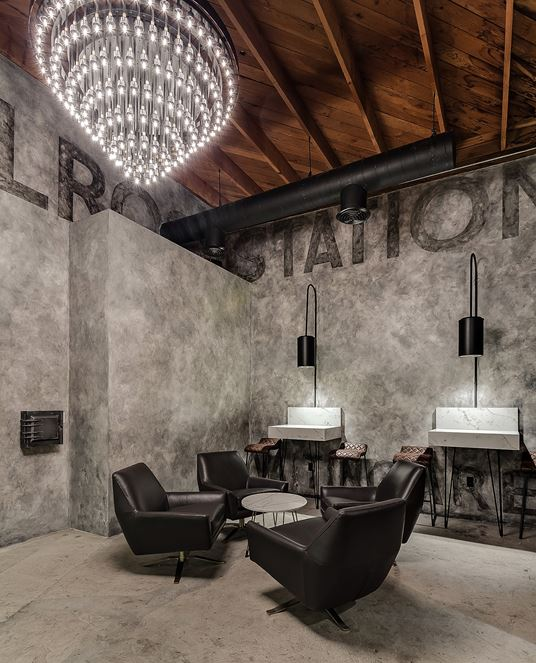 Melrose Station Bar & Restaurant in Hollywood by Archillusion Design