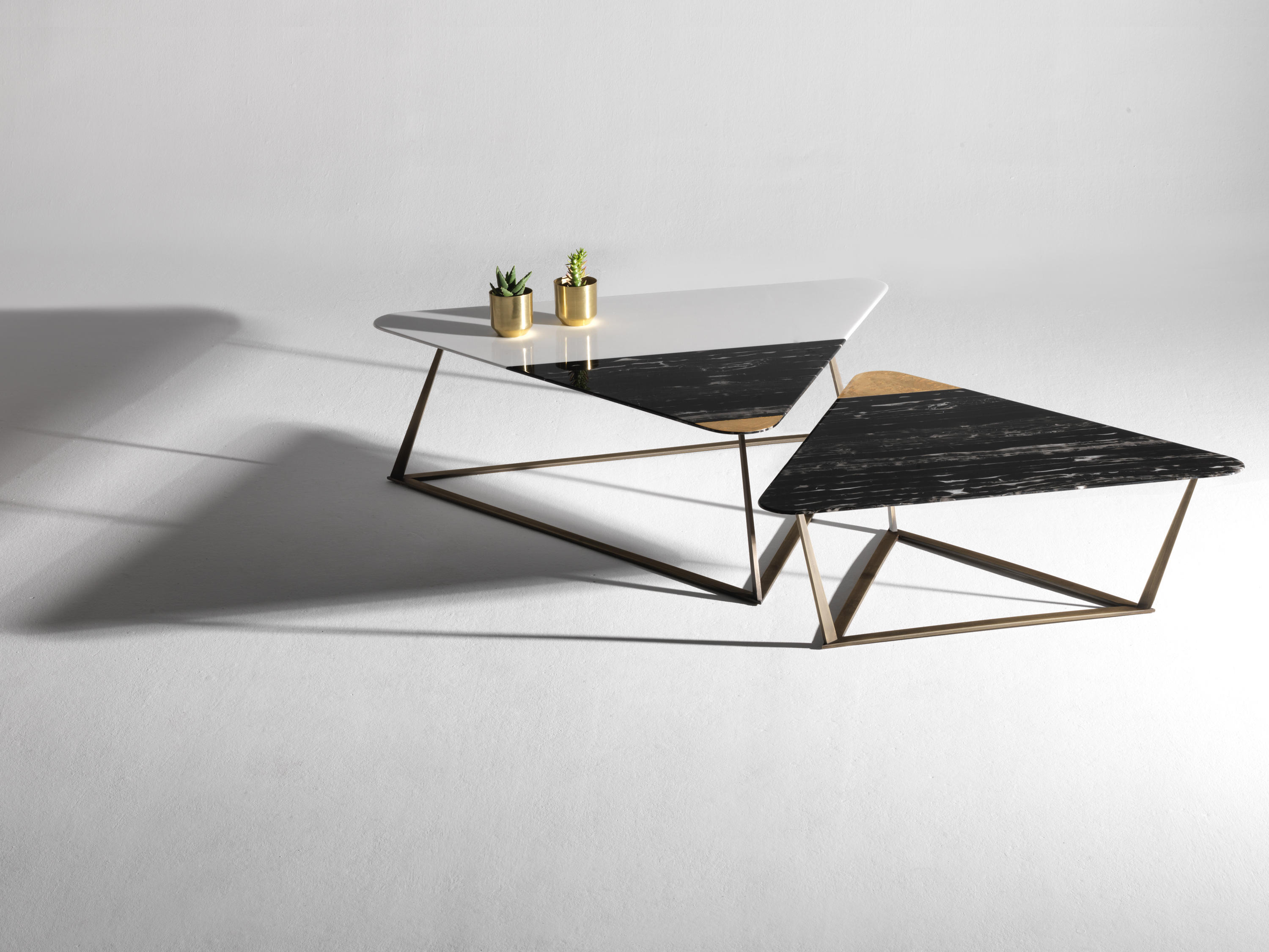 Golden Archer Coffee Tables by Alex Mint