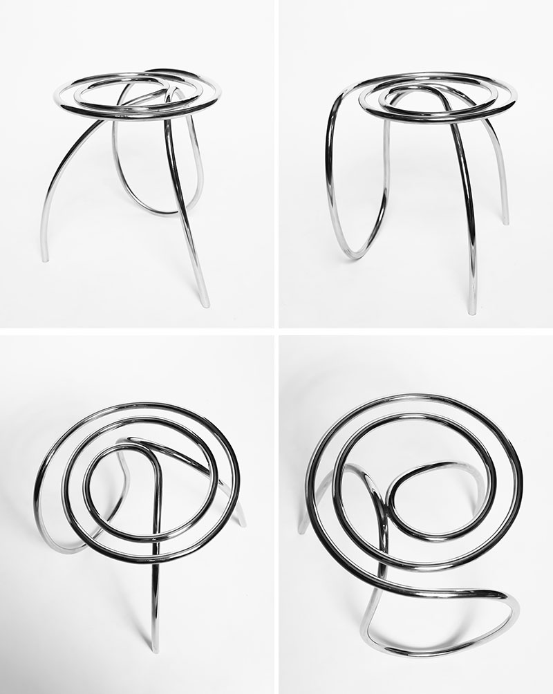 Stainless Steel Chair by XYZ Integrated Architecture