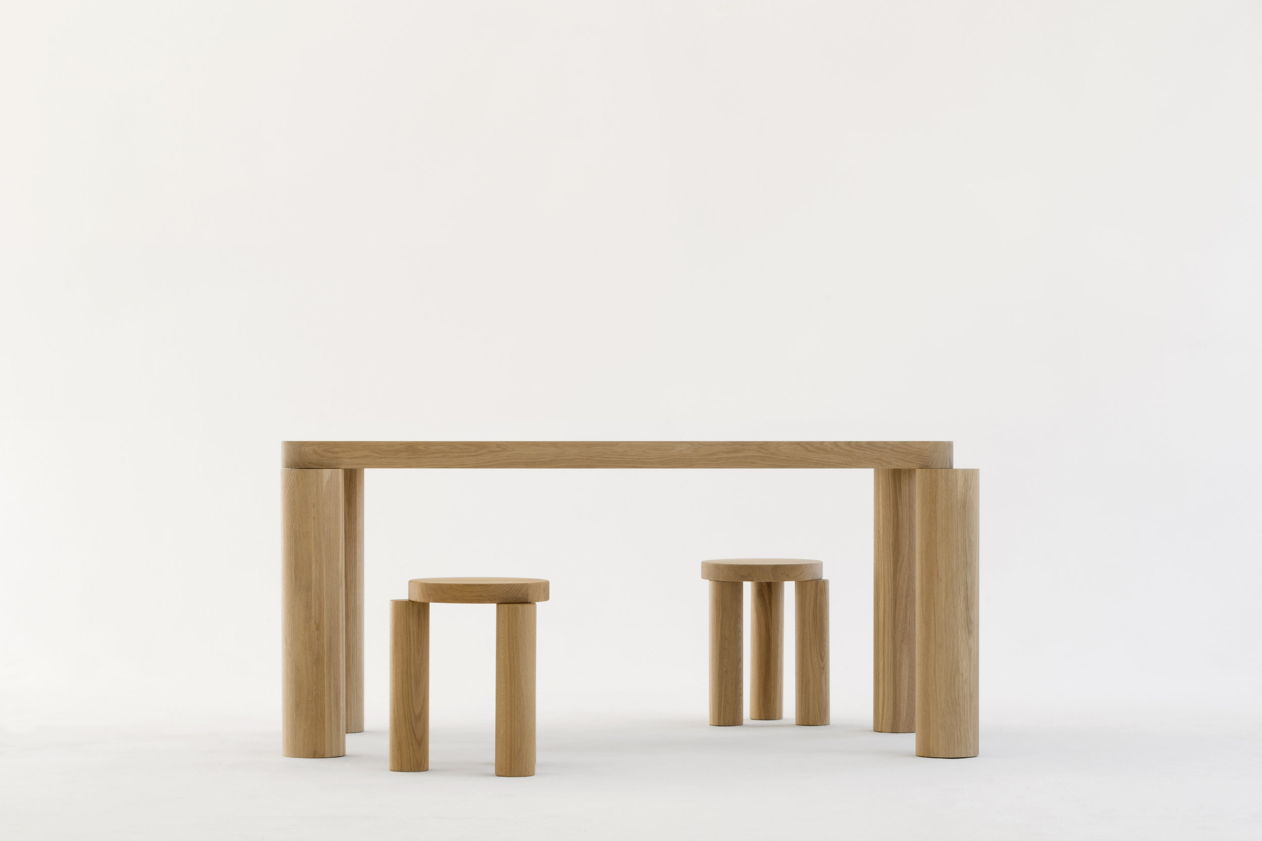 Offset Dining Table by Philippe Malouin for Resident