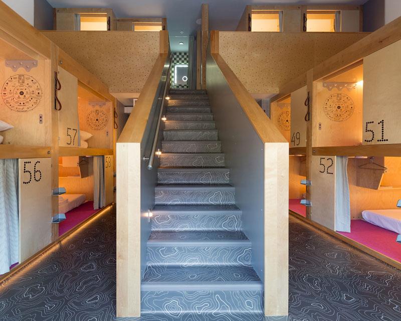 Pangea Pod Hotel in Whistler, Canada by Bricault Design