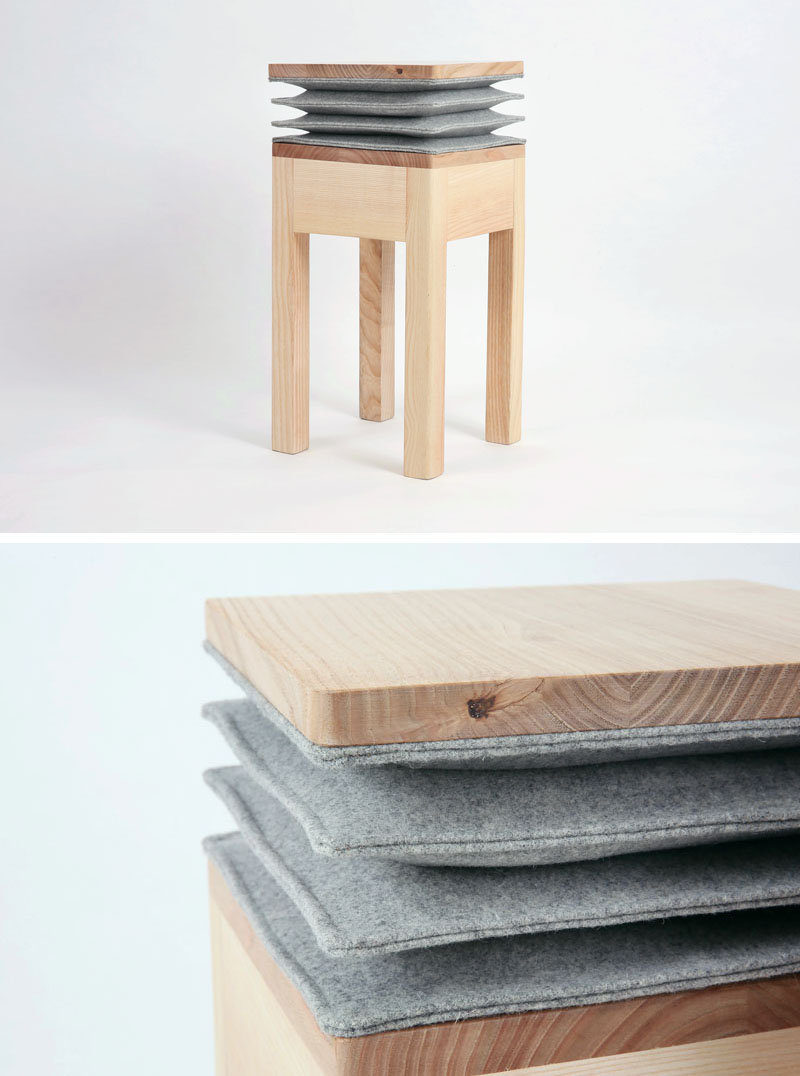 Xia Stool by Soraia Gomes Teixeira, Burel Mountain Originals