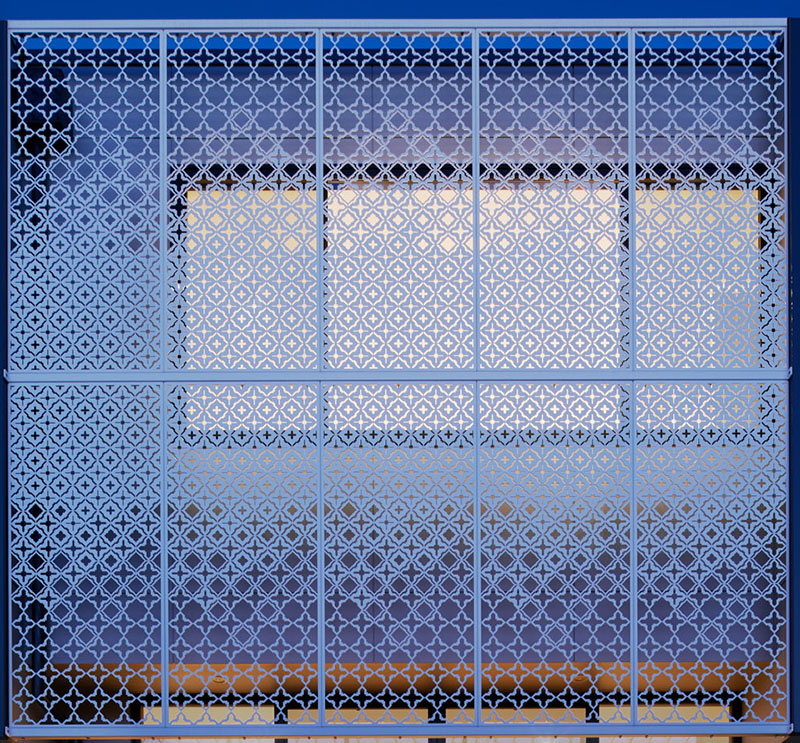 Laser-Cut Metal Screen by Chan Architecture