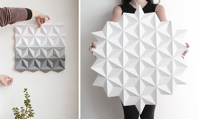 Geometric Origami Wall Art By Kinga Kubowicz In Barceona
