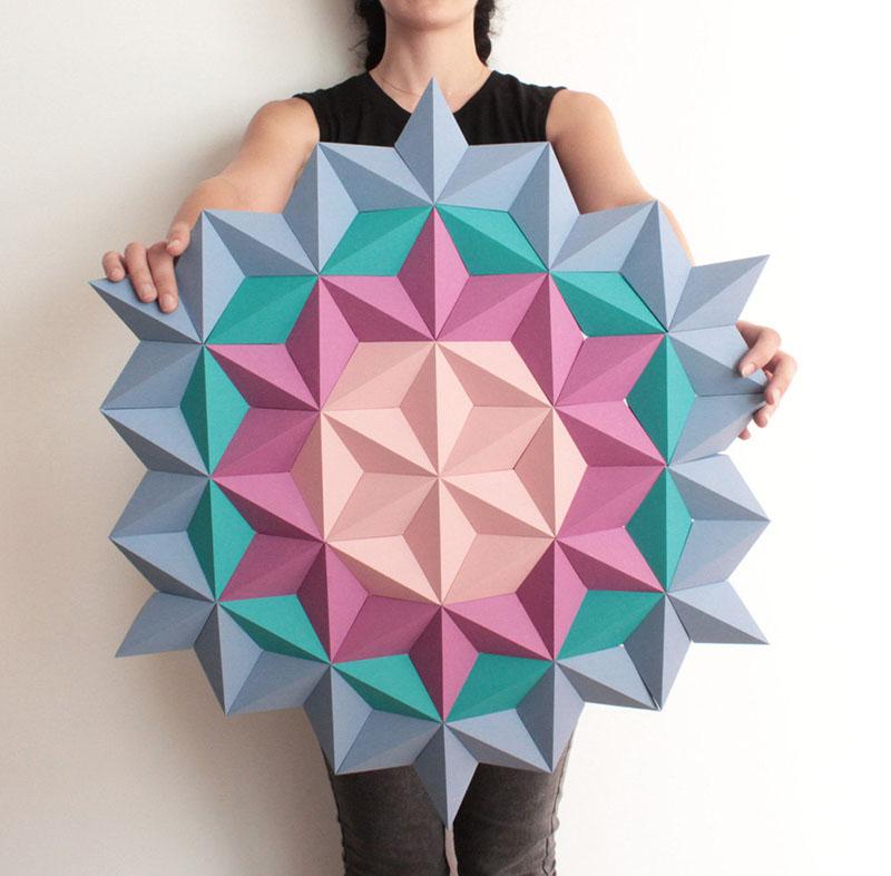 Geometric Origami Wall Art by Kinga Kubowicz in Barceona, Spain