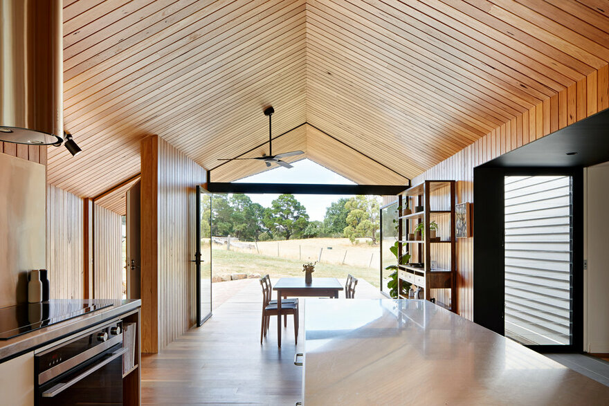 Modern Timber-Clad Addition by Solomon Troup Architects in Eganstown, Victoria, Australia