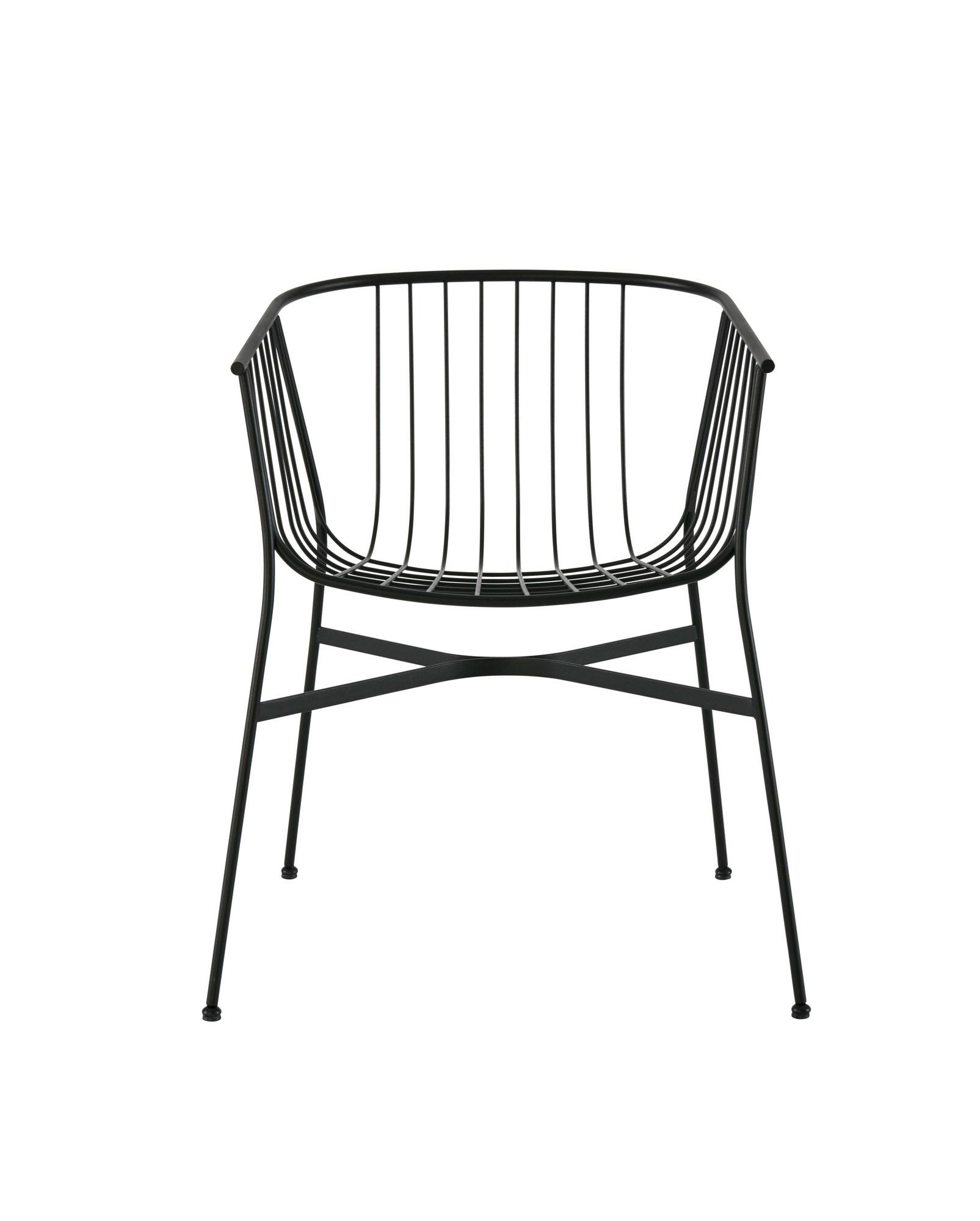 Powder Coated Steel Garden Chair by Tom Fereday