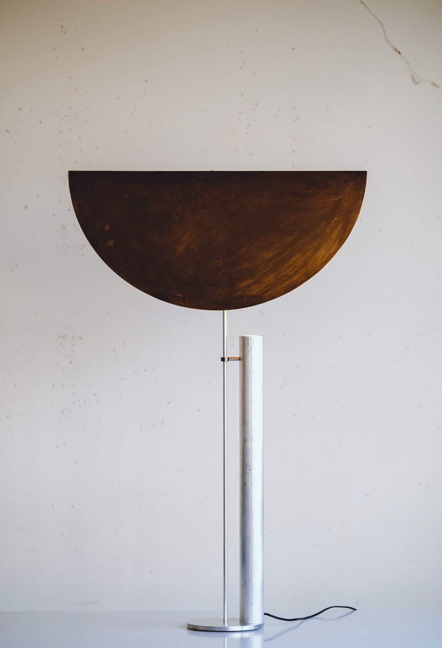 Minimalist Floor Lamp ''Copper Shade'' by Raphael Kadid