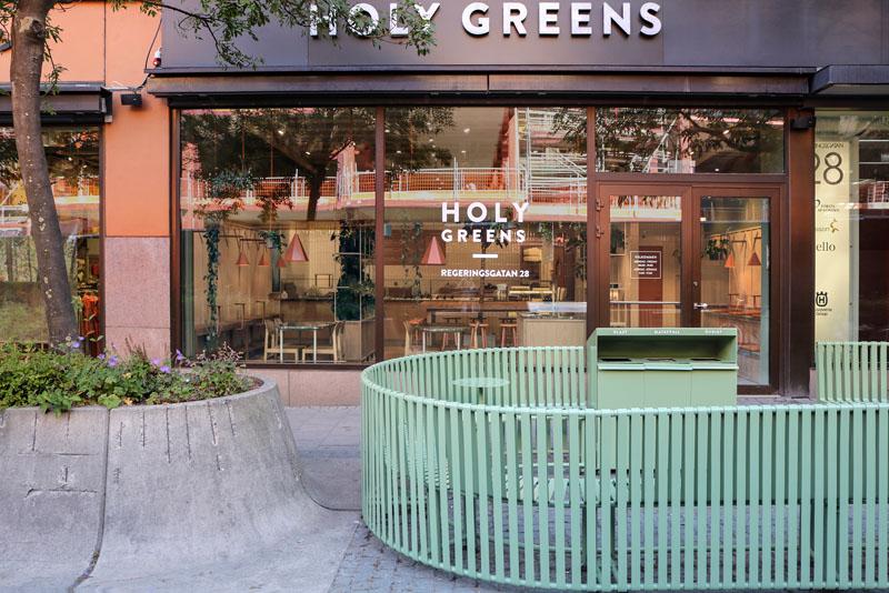 Custom Furniture for Salad Bar ''Holy Greens'' by Blank in Stockholm, Sweden