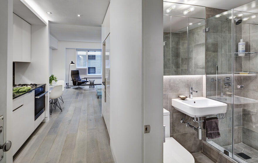 Efficient Studio Apartment by Lilian H Weinreich Architects in New York City