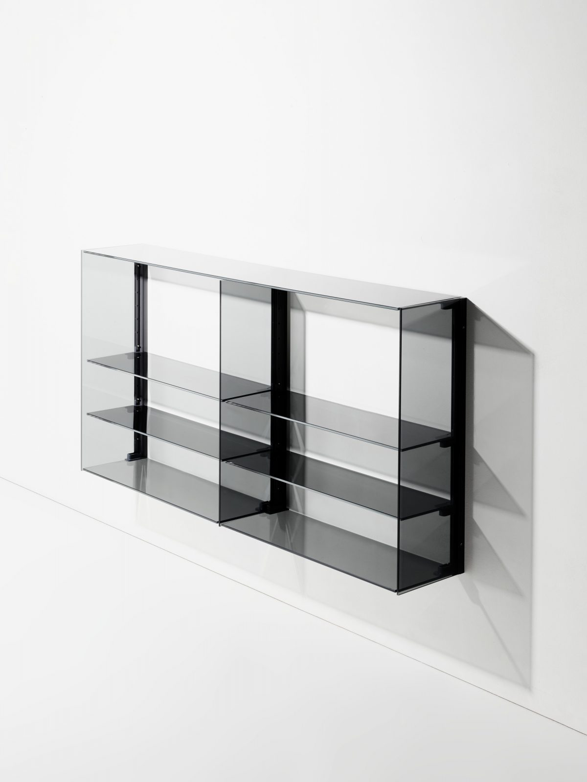 "Minimalist Wall-Mounted Furniture System ''RGB"" by Stefan Diez"