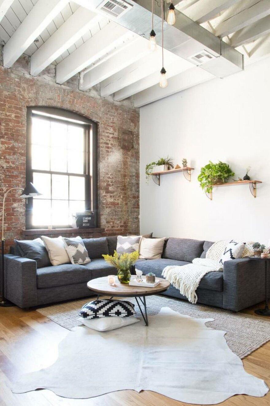 Industrial Brooklyn Home by Becky Shea Design in Brooklyn, New York City