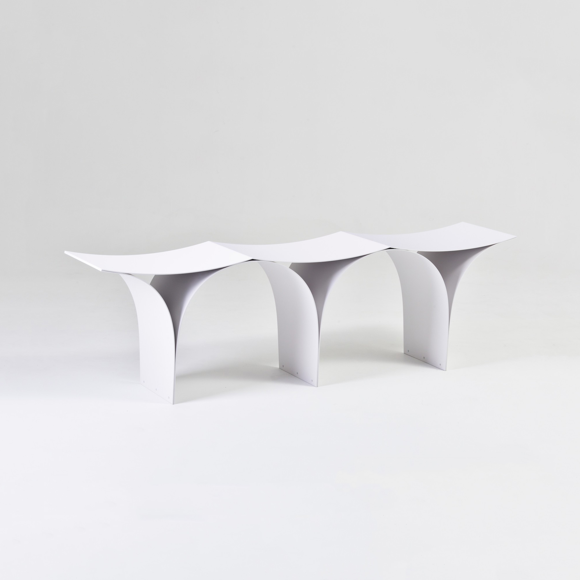 Minimalist Bench 'Arch' by Shinya Oguchi