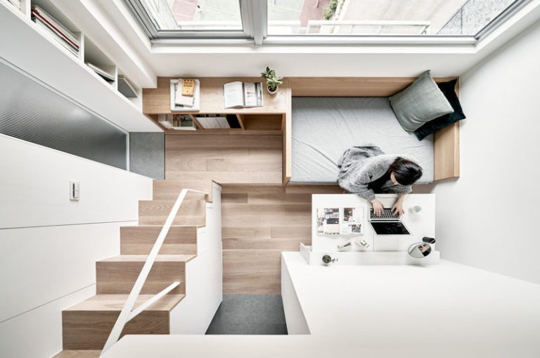 Efficient Small Apartment By Design Firm A Little Design In Taipei Taiwan Sohomod Blog