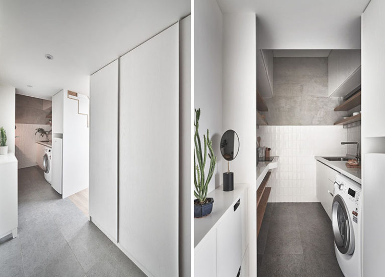 Efficient Small Apartment by Design Firm A Little Design in Taipei, Taiwan