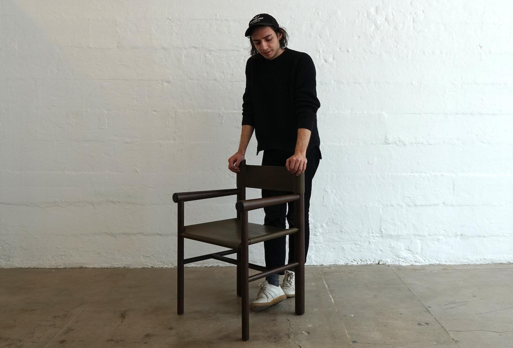 Minimalist Gradual Chair by Benjamin Kicic