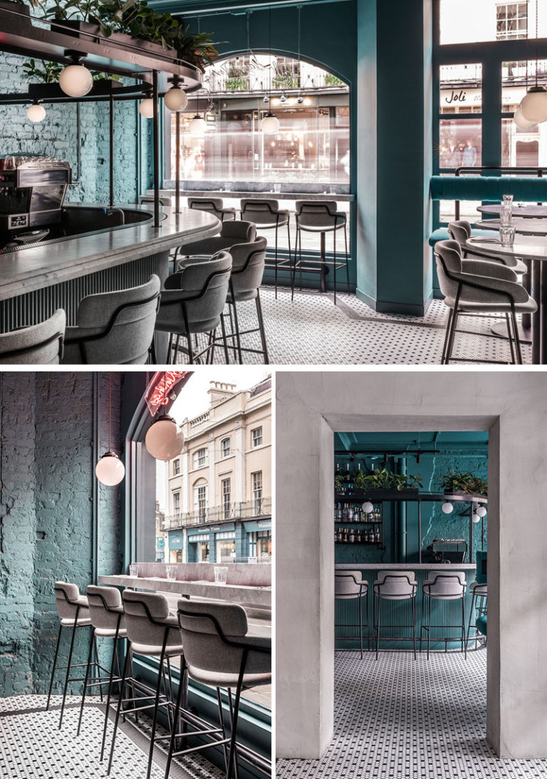"""Coffee-and-Cocktail Restaurant """"Greenwich Grindy"""" by Biasol London, England"""