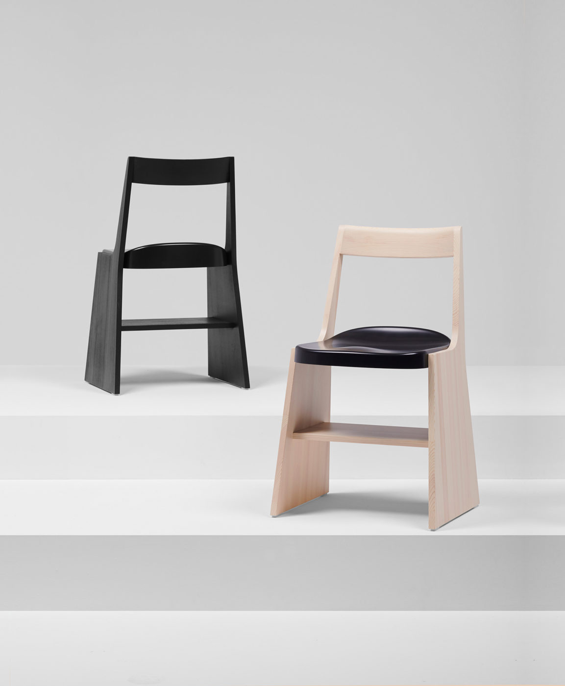 Minimalist Collection of Chairs and Stools by Studio Industrial Facility for Mattiazzi